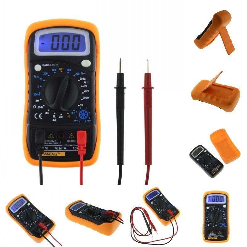 LCD Digital Voltmeter Ohmmeter Ammeter OHM Multimeter Avometer with Blue Backlight