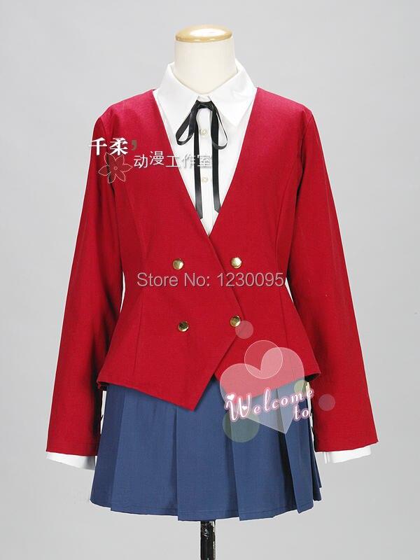 TIGER DRAGON Toradora Taiga Aisaka Cosplay Costume School Uniform