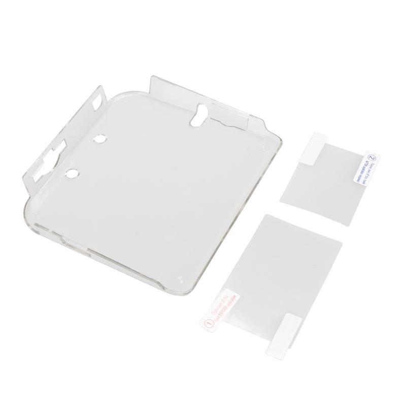 Fundas protectoras transparentes de plástico duro con película para Nintendo, accesorios para consola de juegos