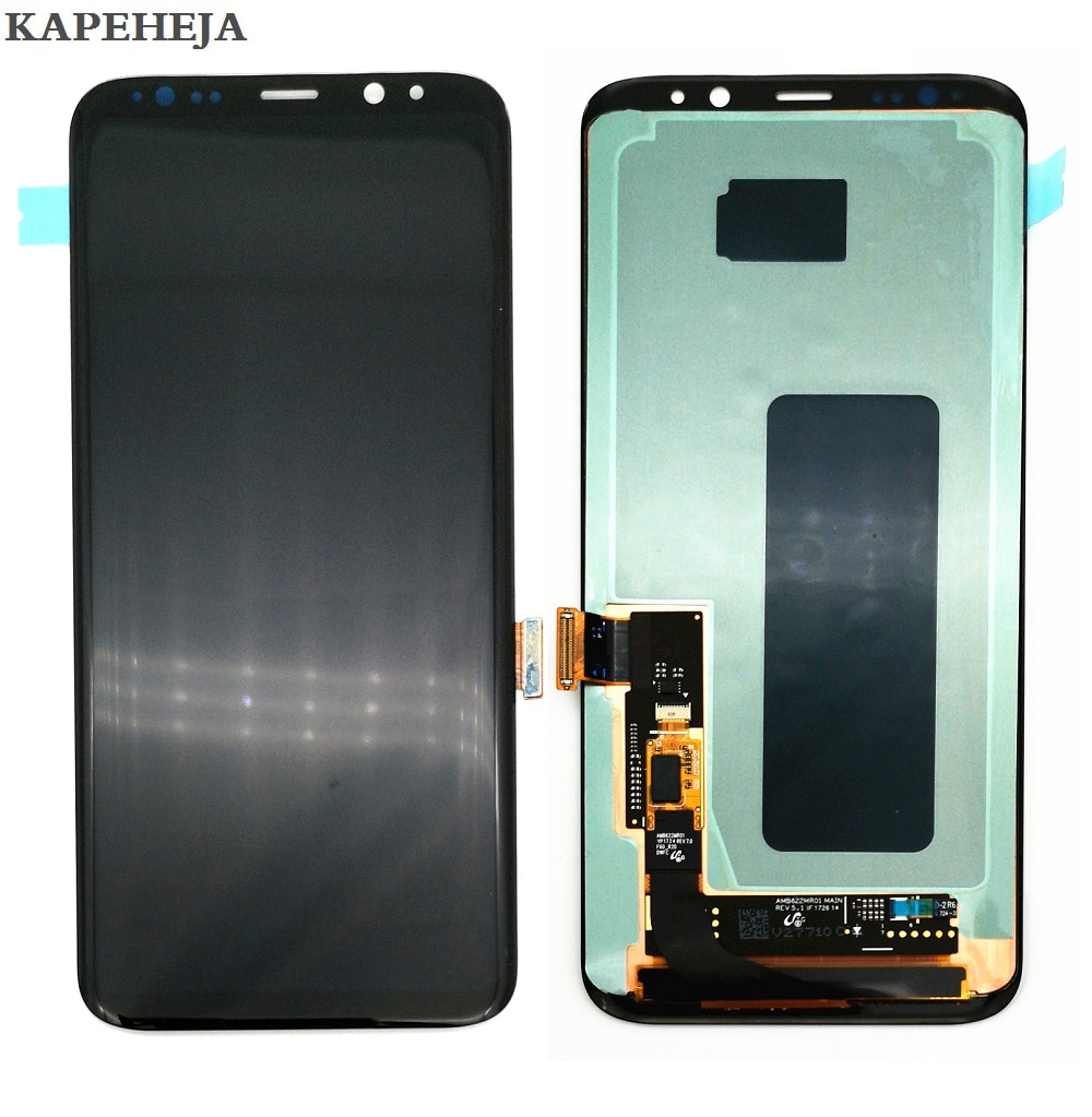Super AMOLED For Samsung Galaxy Galaxy S8 G950 G950F Display S8+ S8 Plus G955 G955F LCD Display Touch Screen Digitizer Assembly enlarge