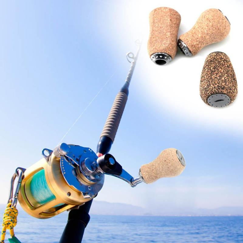 Fishing Reel Wooden Handle Knob Durable Carp Fishing Reel Knob for Baitcasting Daiwa Spinning Wheel Knob Pesca Reel Accessories