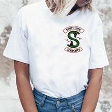 Newest Riverdale T Shirt Women Summer Tops South Side Serpents Jughead Female TShirt Clothing Riverdale SouthSide T-shirt