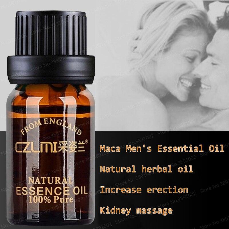 Óleo essencial de pau grande erval masculino de maca para homem para aumentar o crescimento do galo rápido viagra massagem óleo 10ml ampliação produto