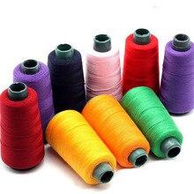 Fil à coudre en polyester 203 polyester 3 épais   Fil jean, toile de couture manuelle, gros tissu curcuma, machine à coudre p