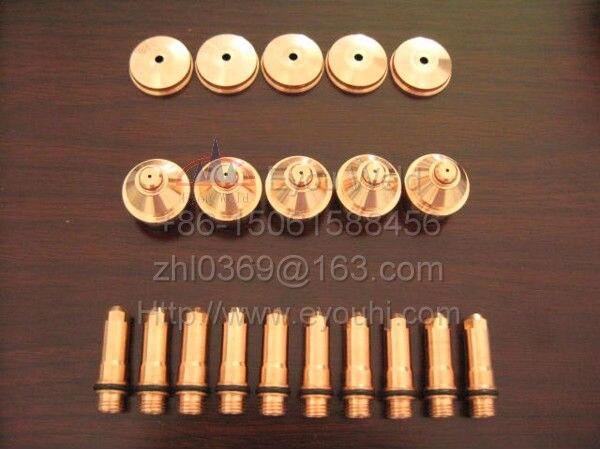 45 шт. 220187 + 220188 + 220189-расходные материалы для плазменной горелки 80A (400XD/260/260XD/130/130XD/4070/3070)