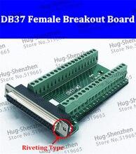 Módulo de Sinal Terminal DB37 female Breakout Board Fascinante tipo de Conector 1 pcs