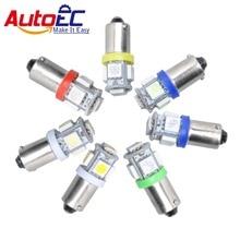 AutoEC 50X T4W 12В BA9S 5 SMD 5050 светодиодный T11 H6W автомобильный индикатор, ширина стороны, распродажа, номерной знак, парковочный светильник # LG02
