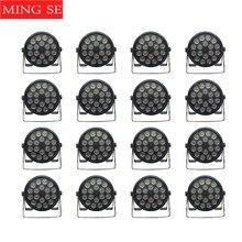 16pcs/lots 18x12W flat panel LED lamp 18 * 12w RGBW 4IN1 Par DMX512 disco lamp professional stage DJ equipment
