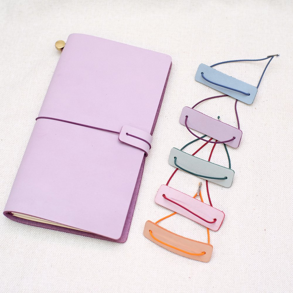 Genuine Leather Notebook Closer Protective Piece With Repair Rubber Band For Handmade Travel Journal Accessories
