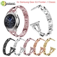 bracelet starp for samsung gear s3 frontier classic watch band replacement smart wristband stainless steel crystal for gear s3