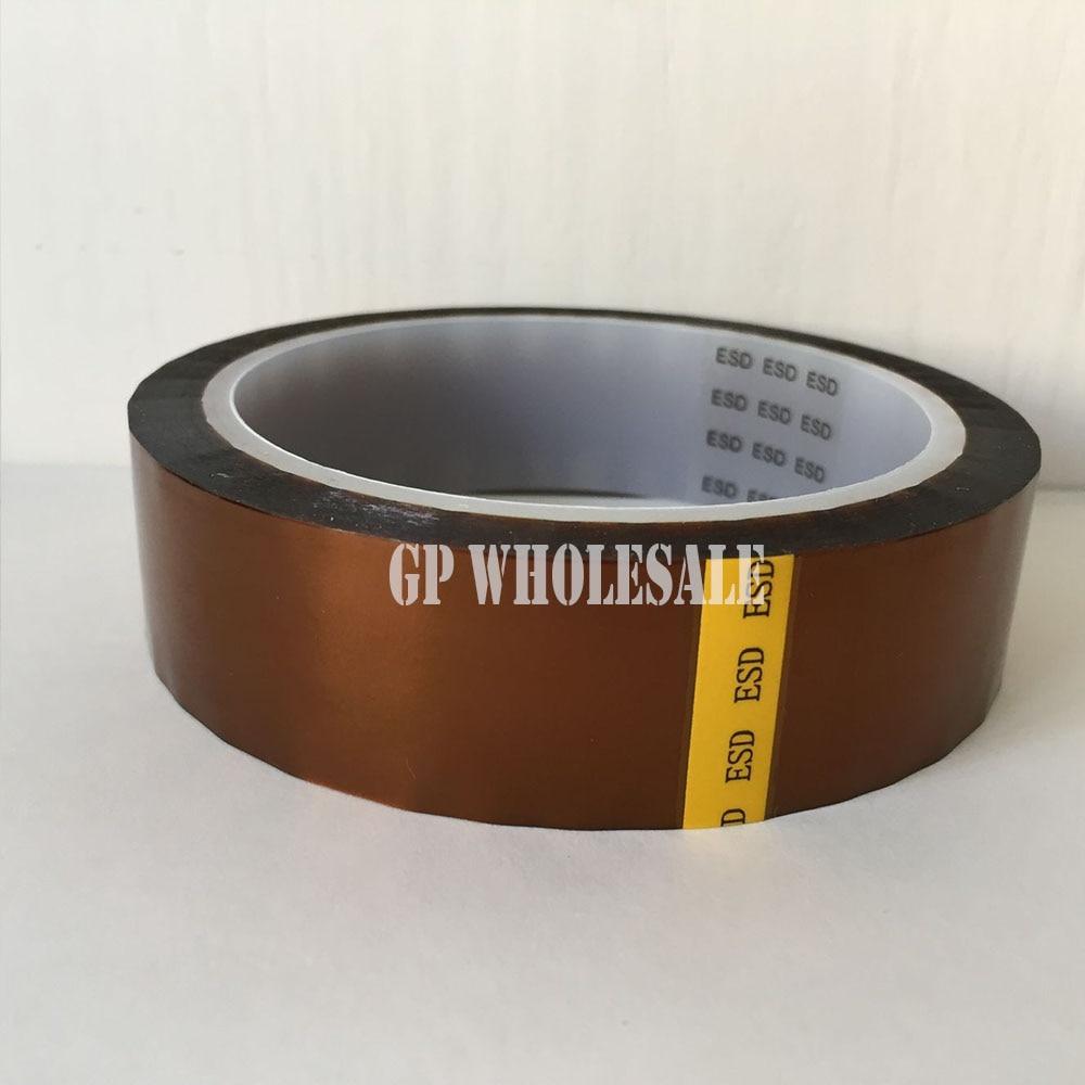 0.06mm de Espessura de 250mm * 20 M Fita de Filme de Poliimida ESD Estática Baixa Unilateral Adhension Tape, imida poli para Proteger, Interruptores electrónicos