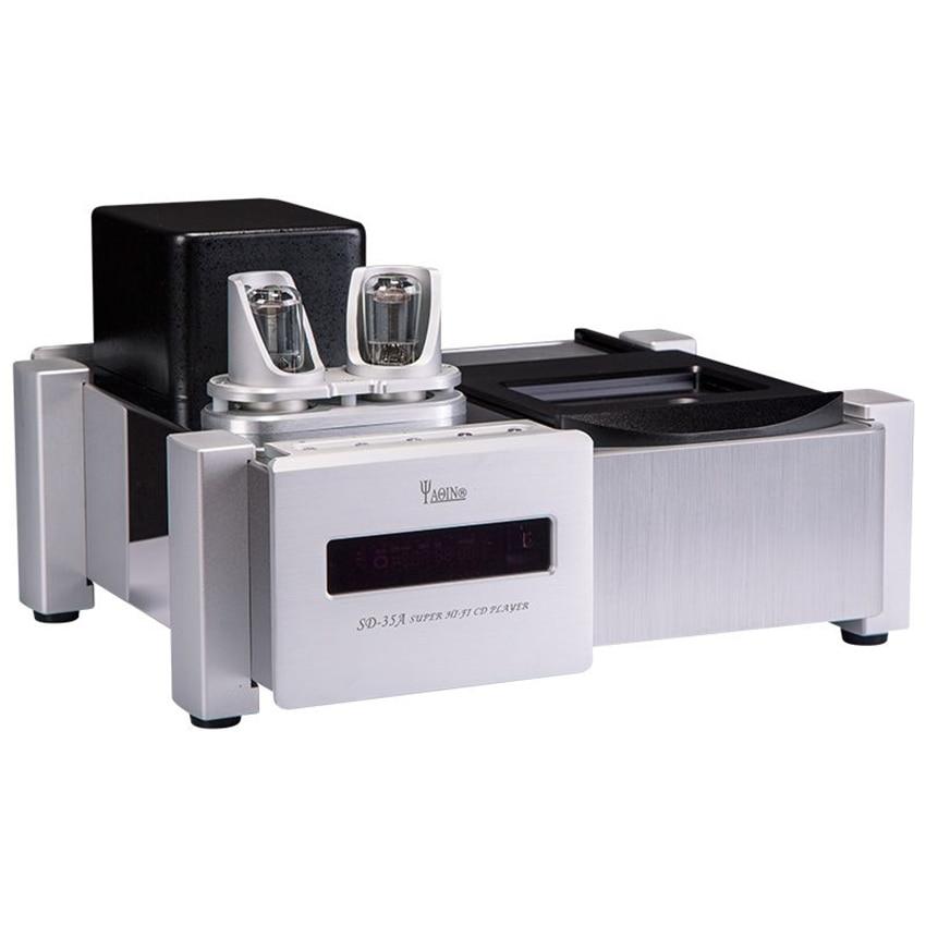 R-036 YAQIN SD-35A Audio estéreo tubo de vacío HDCD CD reproductor 6N8Px2 superior LoadingValve 32A 120V-240V mejora de señal búfer procesador