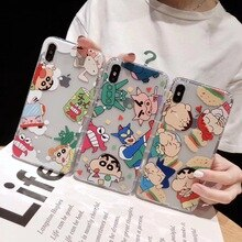Japan Cute Anime Crayon Shinchan Ultraman Phone Case For iPhone 11 Pro Max X XS Max XR 8 7 6 S Plus Clear TPU Back Cover Fundas