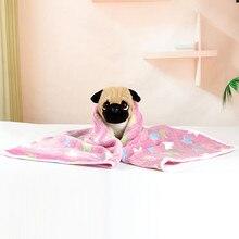 Pet Dog Cat Bed Dog Cat Rest  Soft Flannel Fleece Star Print Warm Blanket Breathable  Pet Cushion Soft Warm Sleep Mat#30 2019
