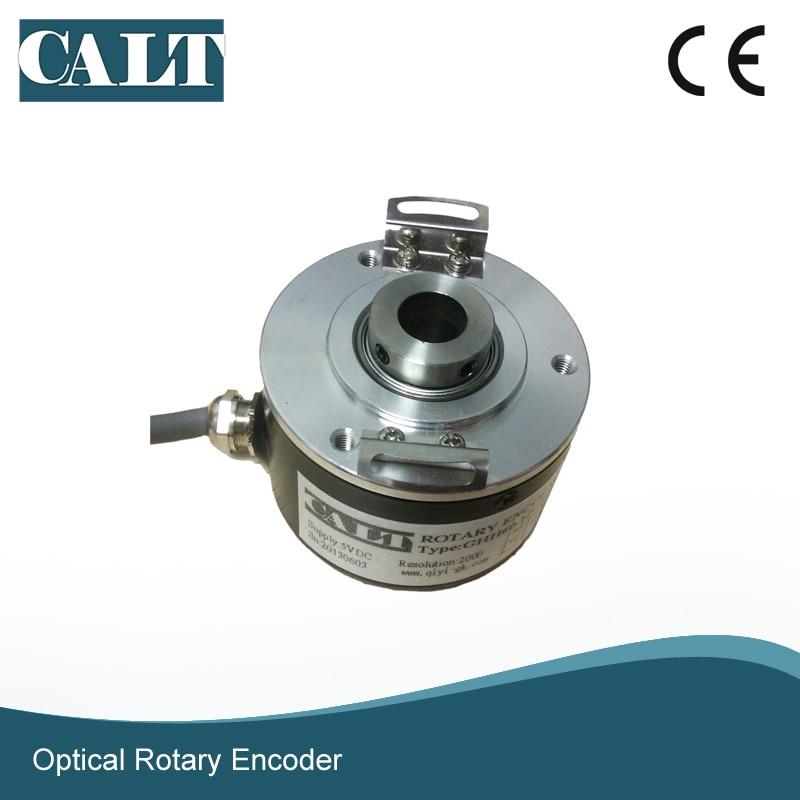 supply of ce9 1024 5l ce9 1024 0l beijing super synchronous spindle servo encoder CALT GHH60 12 mm hollow shaft optical rotary encoder 500 1000 1024 2000 2500 ppr pulse 5V line driver output