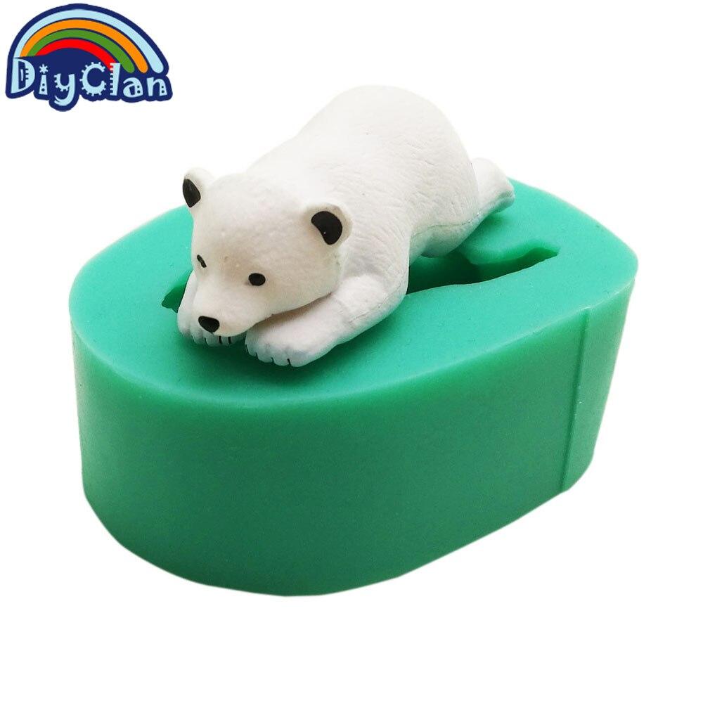 Полярный медведь морской лев сиилконе форма для животных помадка торт Декор Пингвин шоколадная глина Matice плесень гиппопотам Инструменты для выпечки