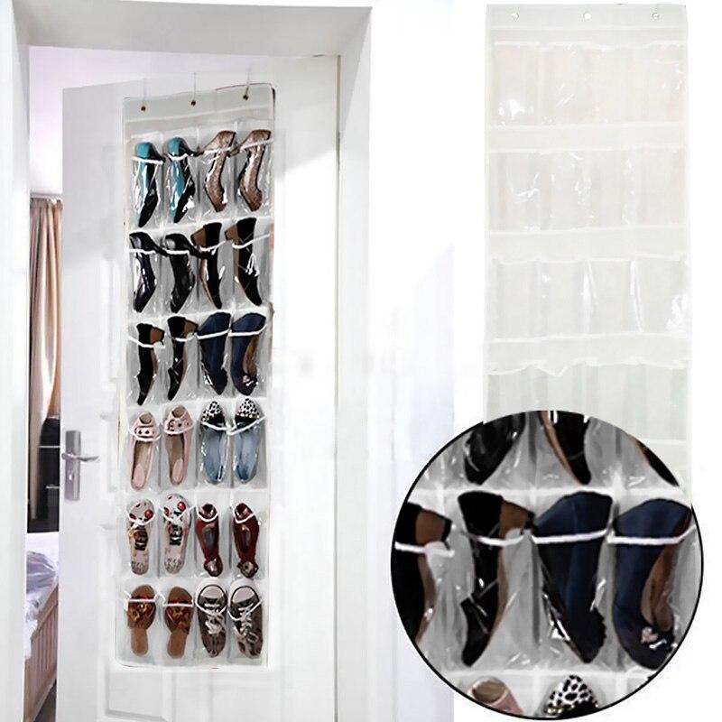 24 Tasche Falten Hängenden Beschuht Speicherorganisator Hängen Diverse Schuh Aufbewahrungstasche für Schrank Hause Kleiderschrank Hängen Tasche