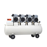 1PC Large Air Pump Compressor Oil-free Silent Air Compressor Dental Laboratory Auto Repair Air Pump Compressor Machine 220/380V
