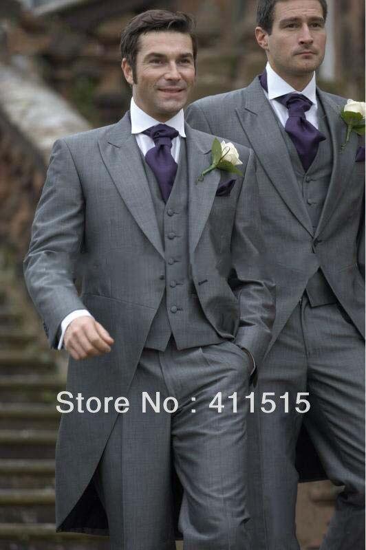 Envío gratis/vestido de hombre personalizado/Nuevo diseño de la mañana estilo gris novio usar esmoquin padrino hombres traje de boda/personalizado traje de novio chaleco