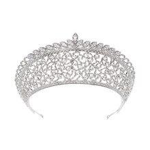 Grande couronne de zirconium européenne offres spéciales diadème de mariée bijoux de mariage accessoires de cheveux de mariage fabricants en gros