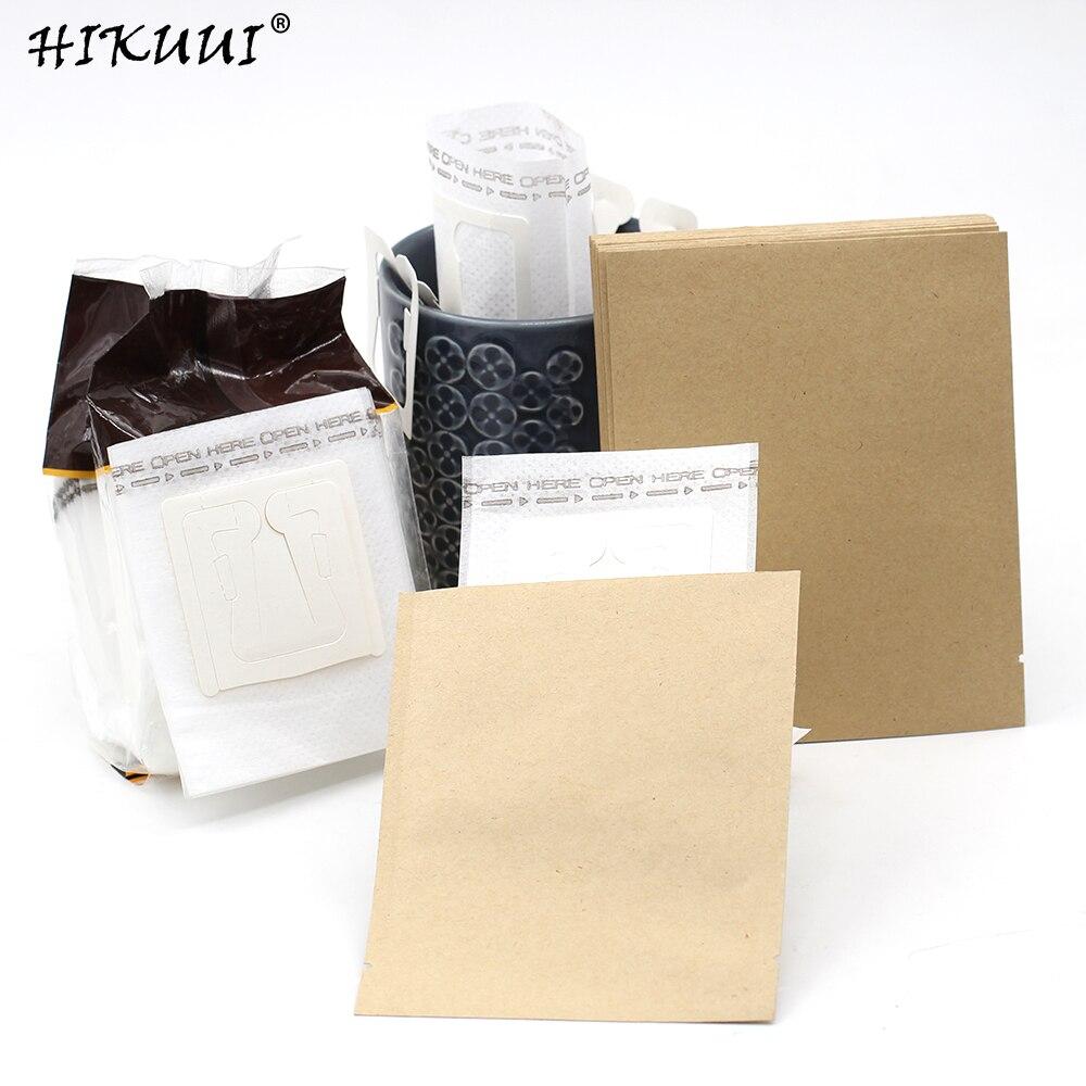 Filtro de café de goteo bolsa de oreja colgante y bolsa de papel sellada Kraft a prueba de humedad paquete de café portátil filtro de café