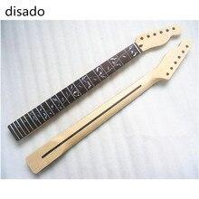 Disado 22 frettes incrusté arbre de vie érable guitare électrique cou pas de peinture guitare accessoires vente en gros instruments de musique pièces