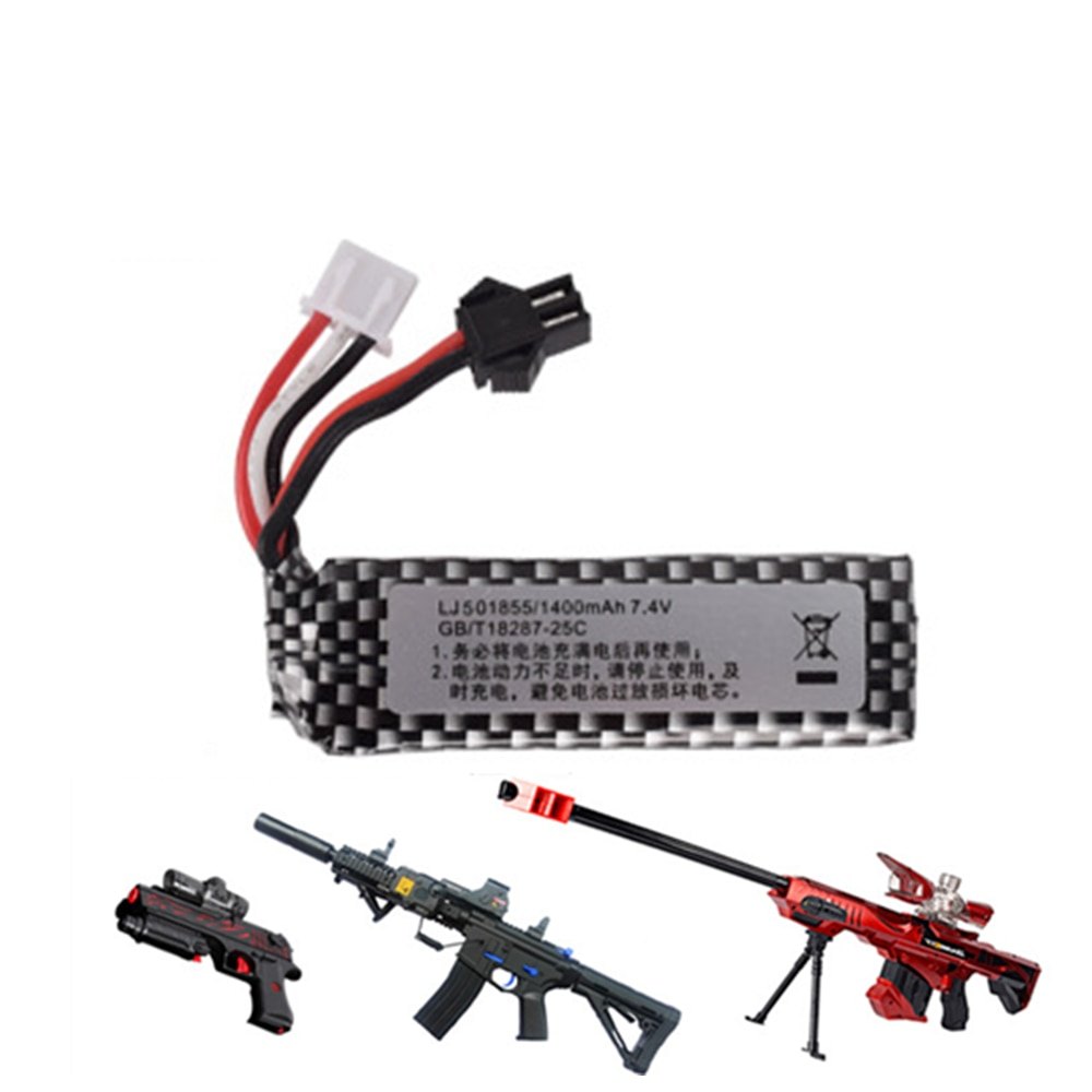 Air gun airsoft Lipo batterie 7,4 V 1400mah lipo batterie elektrische wasser pistole lithium-batterie spielzeug pistole zubehör