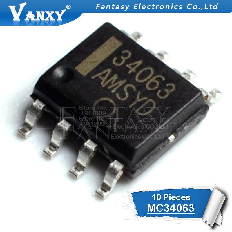 10 шт. MC34063A SOP8 MC34063 SOP MC34063ADR MC34063ADR2G SMD новый и оригинальный IC