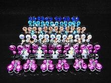 60 Pcs 10 Color Mini Butterfly Crystal Flower Hair Claw Clamp Hair Clip Hair Pins  Wedding Prom Rhinestone Crystal hair ornament