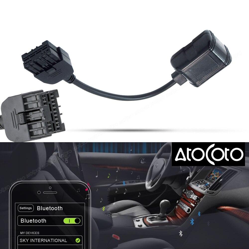 AtoCoto módulo Bluetooth para coche, para interfaz Infiniti iPod, adaptador de Radio Estéreo inalámbrico de entrada de Audio para Nissan 284H2-ZT50A