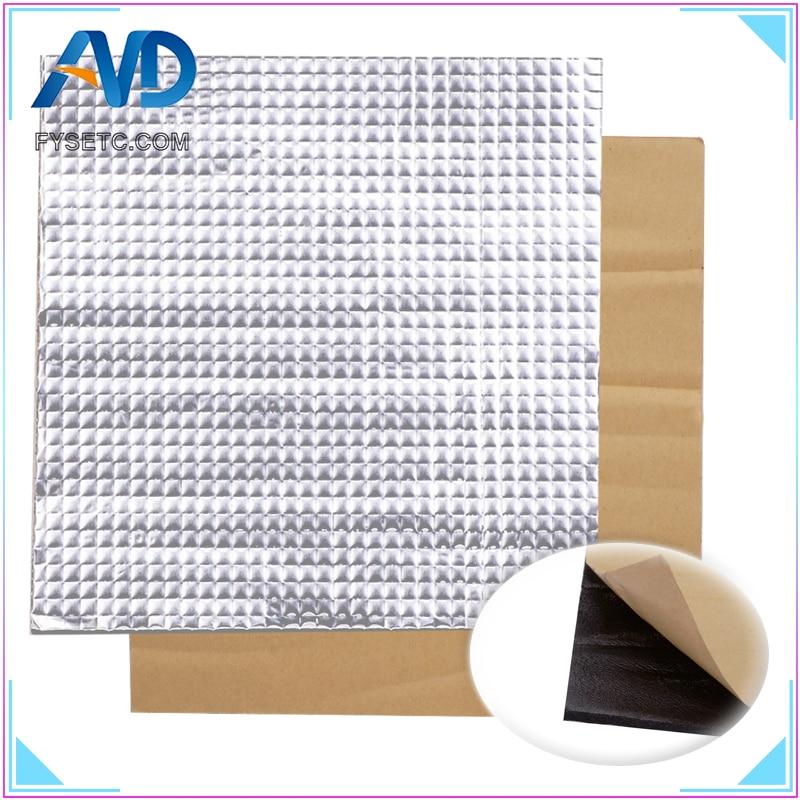 1 шт. теплоизоляция хлопок 200/300 мм фольга самоклеющаяся изоляция хлопок 10 мм толщина 3D принтер нагревательные наклейки для кровати