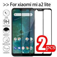 2 шт Mi A2 Lite стекло закаленное стекло для xiaomi mi a2 lite защитное стекло на Xiomi Mia2 A2lite Mia2lite A 2 световая защитная пленка