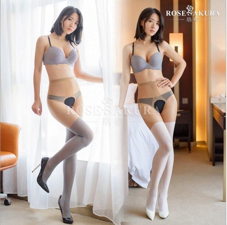 Ложные колготки на подтяжках 20D, женские облегающие высокие колготки с завышенной талией и открытой ластовицей