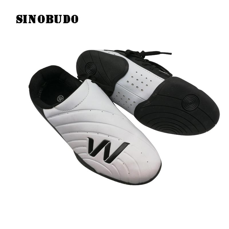Elite Taekwondo-حذاء رياضي أبيض للبالغين ، حذاء رياضي يسمح بمرور الهواء ، مثالي للياقة البدنية