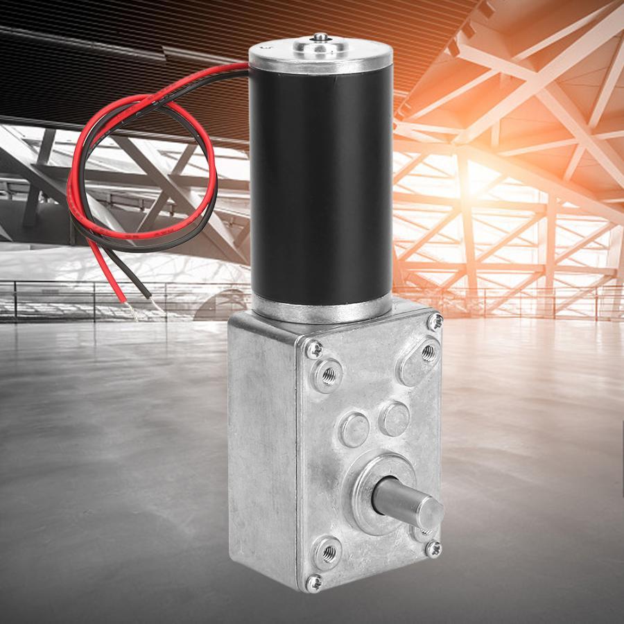 DC 12V Elektrische Motor Hohe Torsion Getriebe Reduktion Motor 10-400RPM Reversible Wurm Metall Getriebe Motor