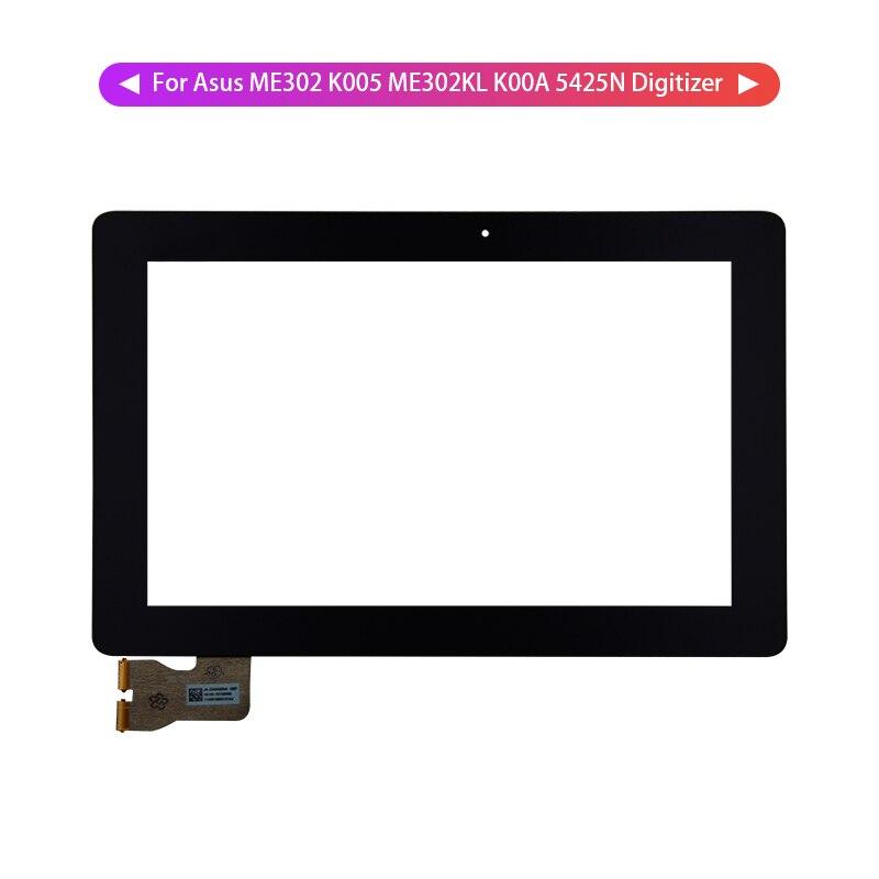Para Asus MEMO Pad FHD 10 ME302 ME302C K005 ME302KL K00A 5425N Panel digitalizador de pantalla táctil Sensor de vidrio herramientas libres