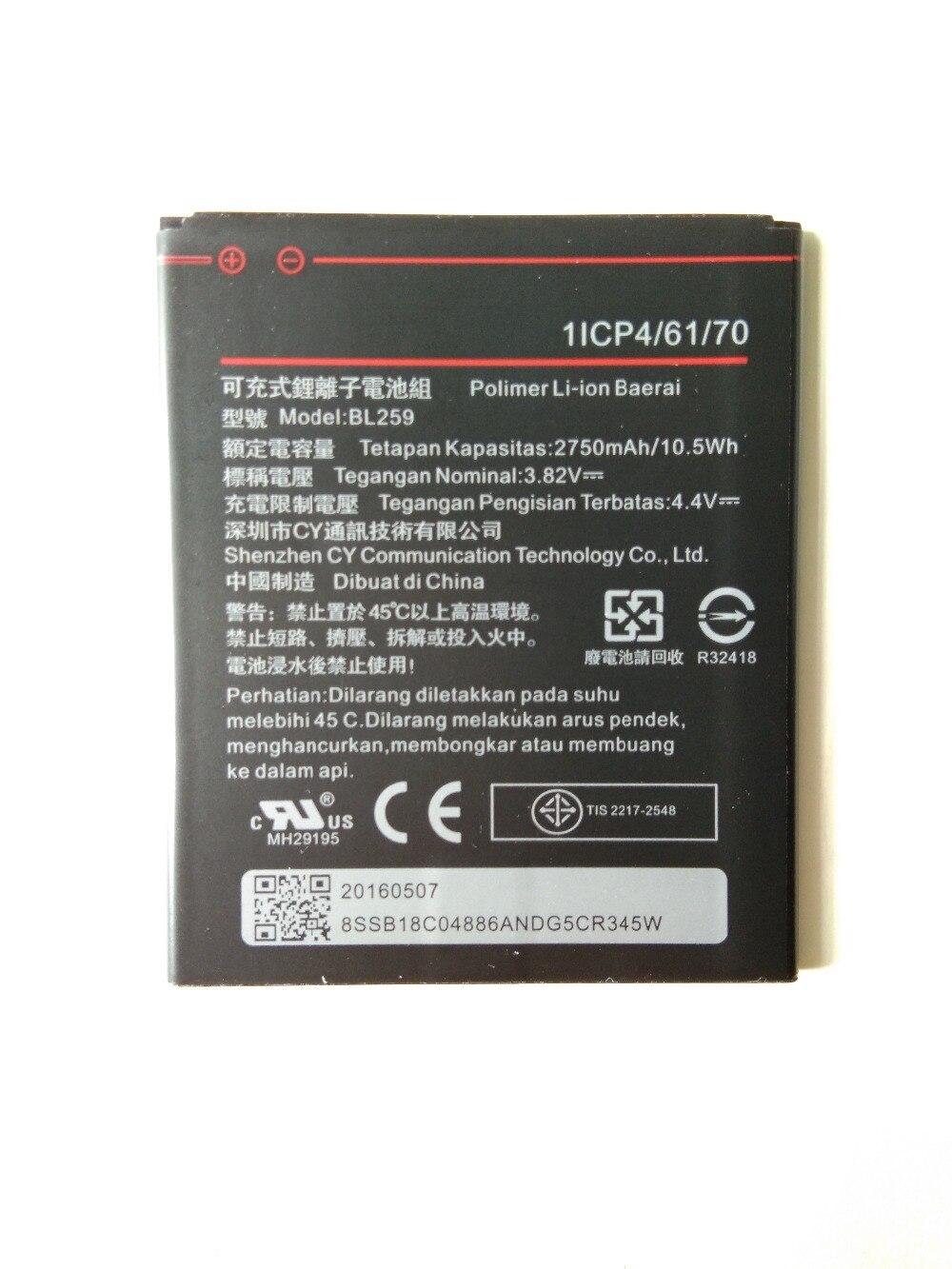 New 2750mAh BL259 battery for Lenovo K32C30 K32C36 lemon K3 K5 Vibe K5 / K5 Plus cell phone