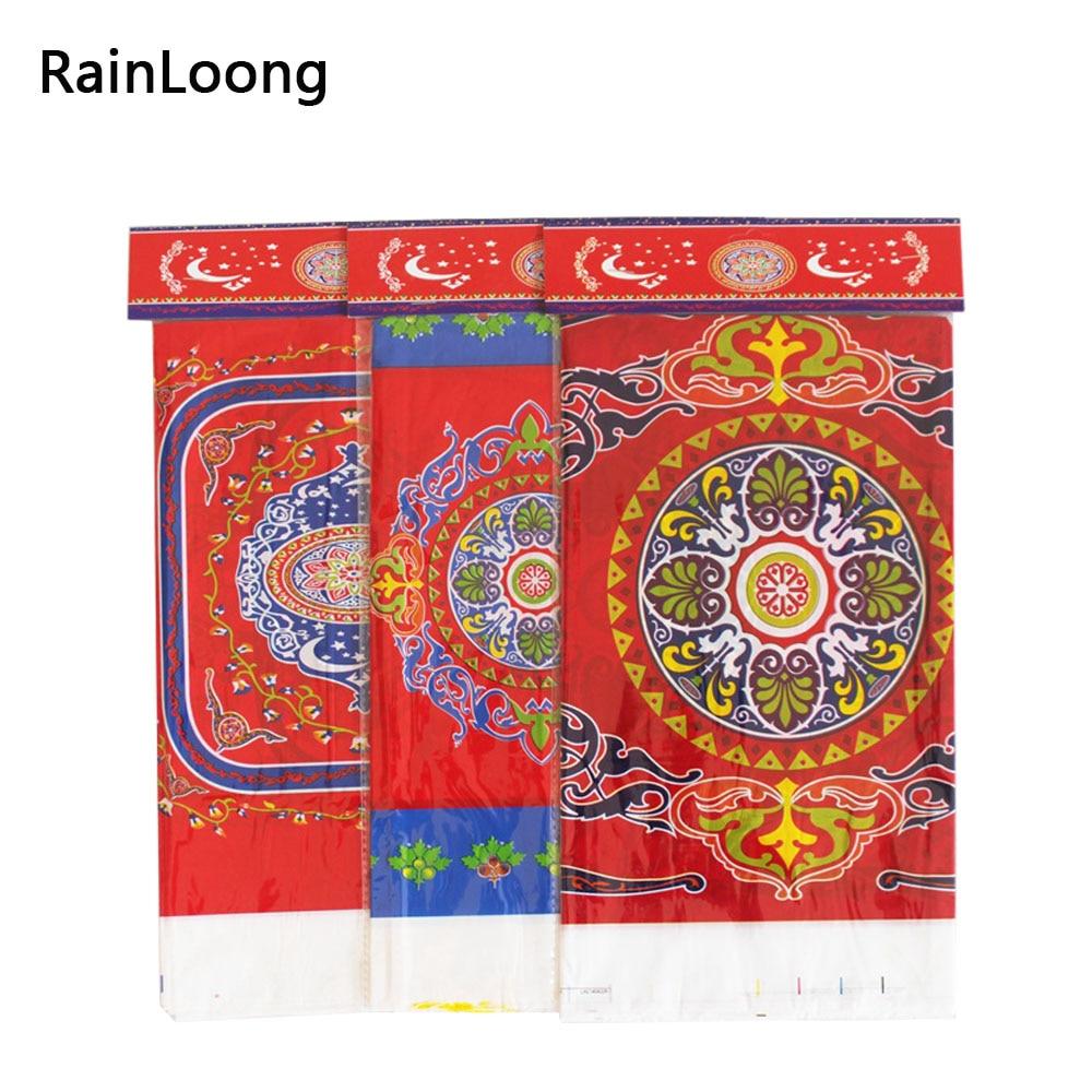 Disposable Plastic Table Cloth Eid al-Fitr Ramadan Table Cover Tablecloth Waterproof For Moslem Islamism Decoration 180*108cm