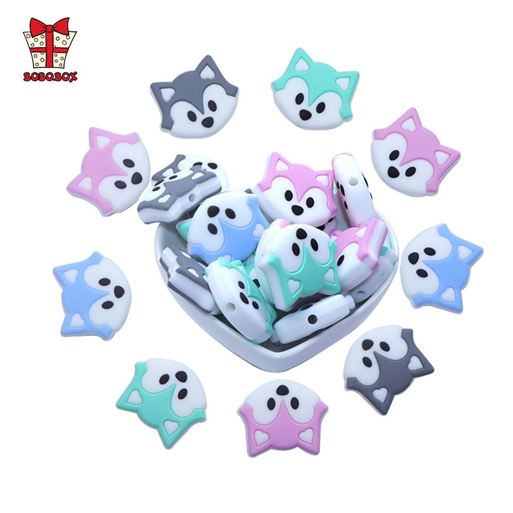 AliExpress - BOBO.BOX 3pcs/lot Baby Teether Beads Mini Fox Pacifier Clips Chain Beads Pearl Silicone Teething Toys Food Grade Mini Teether