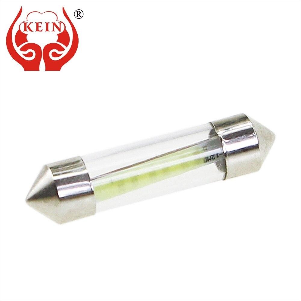 KEIN 10 шт. 31 мм C5W C10W festoon Авто светодиодный COB светильник для чтения двери лампы багажника номерного знака сигнальная лампа C3W 36 мм 39 мм 41 мм