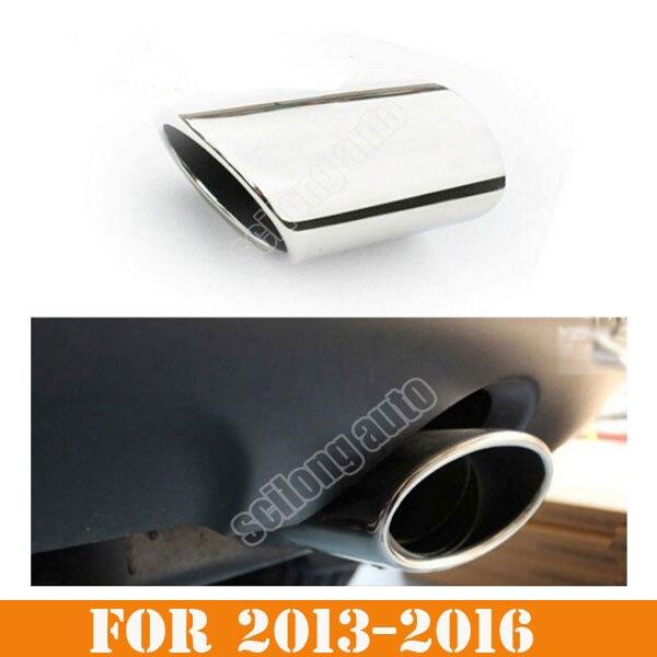 Sikali SKL accesorios de diseño de coche escape extremo trasero tubo silenciador ajuste cubierta protectora apta para 2013-2018 esquivar viaje