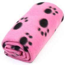 Couverture en molleton imprimée patte de chien chat   Tapis de Couture confortable, joli Design, gros