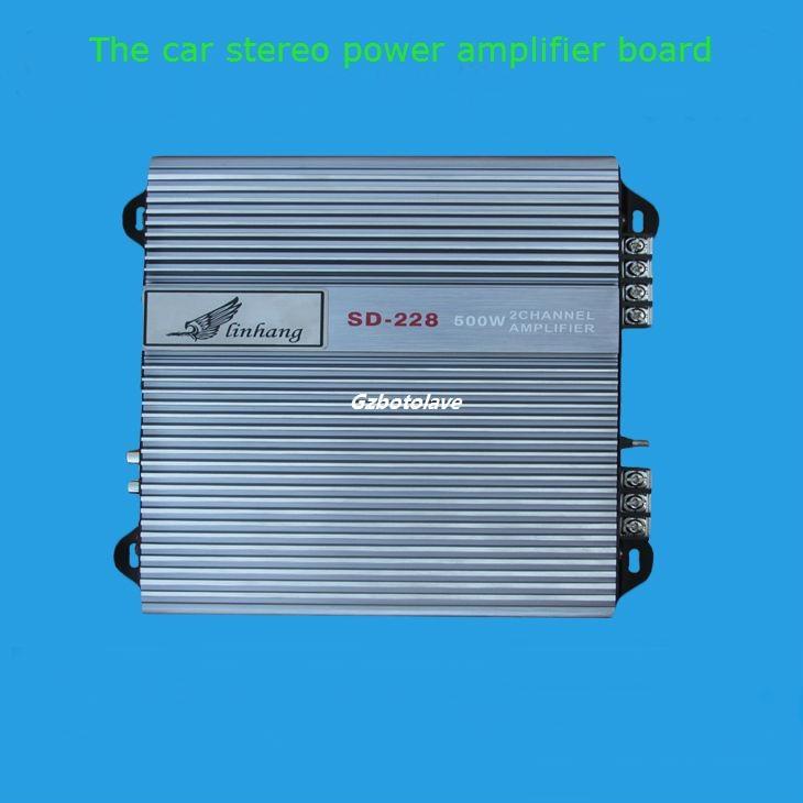 AMPLIFICADOR DE POTENCIA DE AUDIO para coche, dos amplificadores de potencia de doble transmisión para vehículo con control remoto de 200W * 2