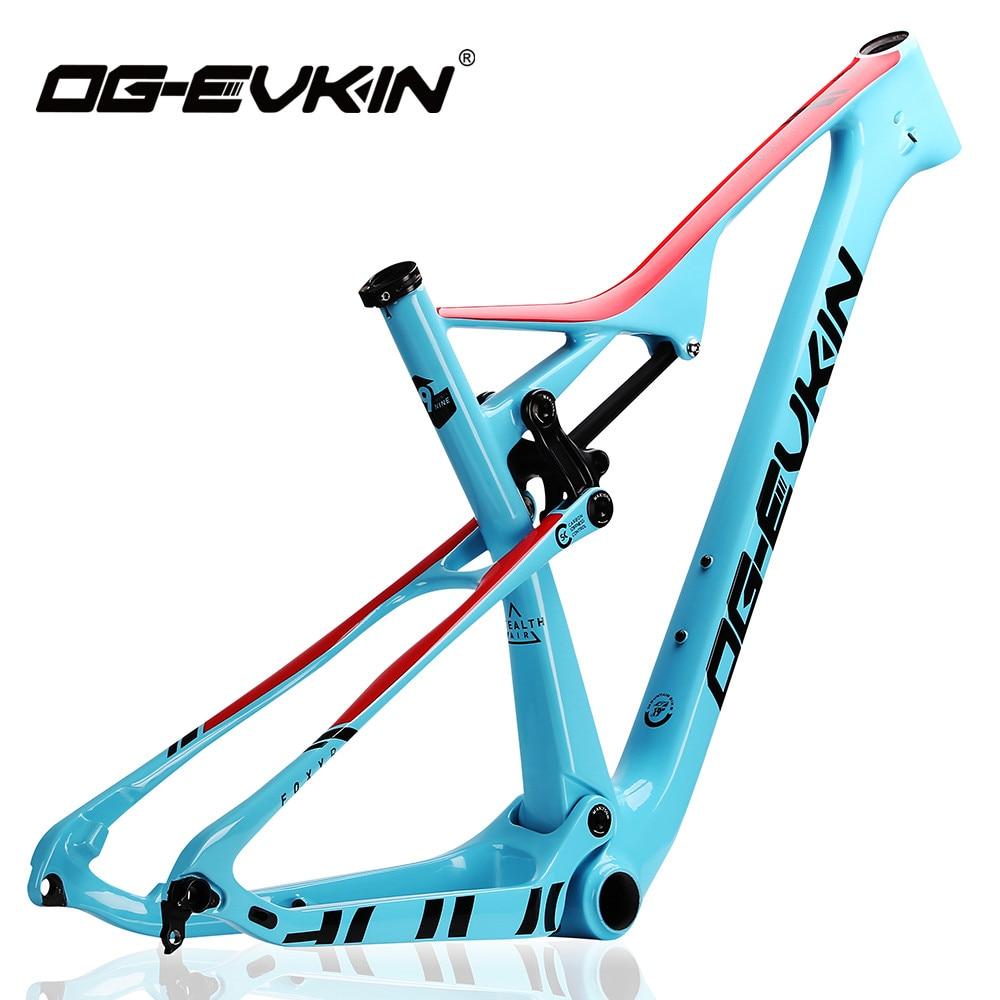OG-EVKIN CF-049 mountain bike quadro (xc) t800 carbono mtb quadro brilhante 29er fibra de carbono eps moldagem quadro de bicicleta de carbono