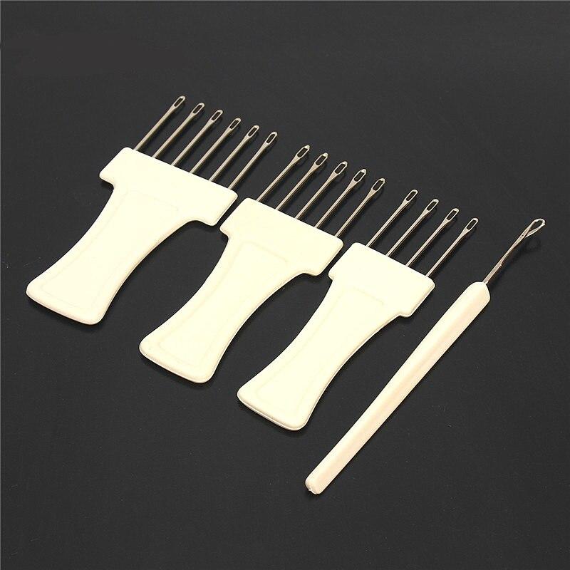 1 Juego de herramientas de transferencia de punto prácticas 3 herramientas de transferencia + un juego de pestillo para herramientas de máquina de tejer de calibre voluminoso 9mm