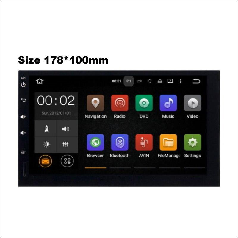 178*100mm coche Multimedia Android sistema amplificador Radio BT HD pantalla táctil GPS Navi navegación Audio Video estéreo sin reproductor de DVD