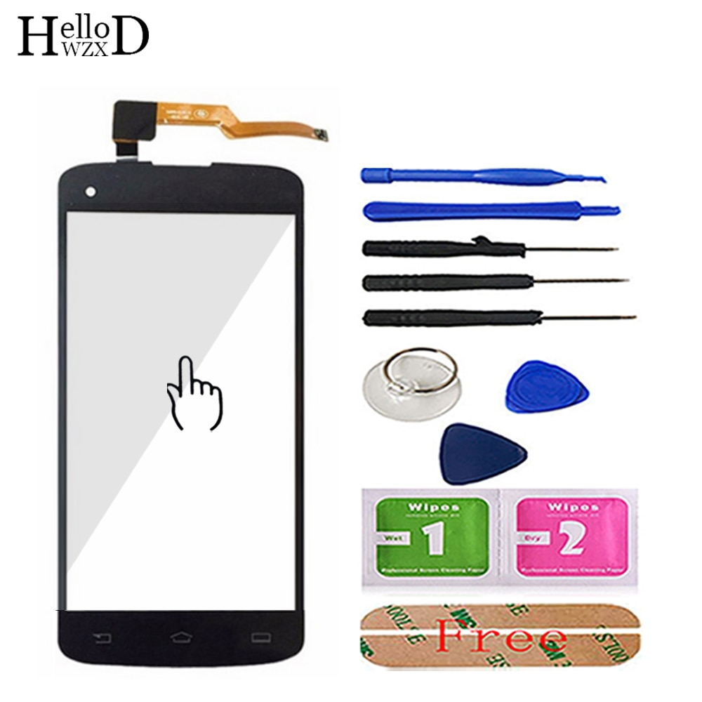Mobile Phone Touch Glass For Philips i908 Touch Screen Front Glass For Philips Xenium i908 Digitizer Panel Lens Sensor 3M Glue