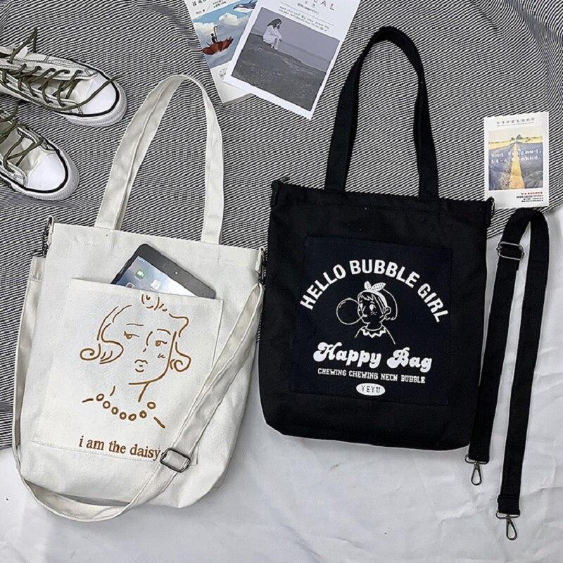 ¡Novedad de 2020! Bolsos de mensajero plegables de moda para mujer, bandoleras de lona, bolsos para estudiantes y niñas con cremallera, bolsos para la escuela