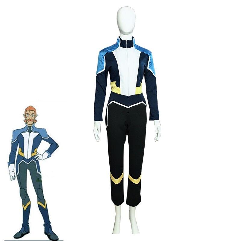 Anime Voltron Legendary Defender Coran Cosplay disfraz Battle One-piece hombres mono adultos Halloween uniformes hecho a medida