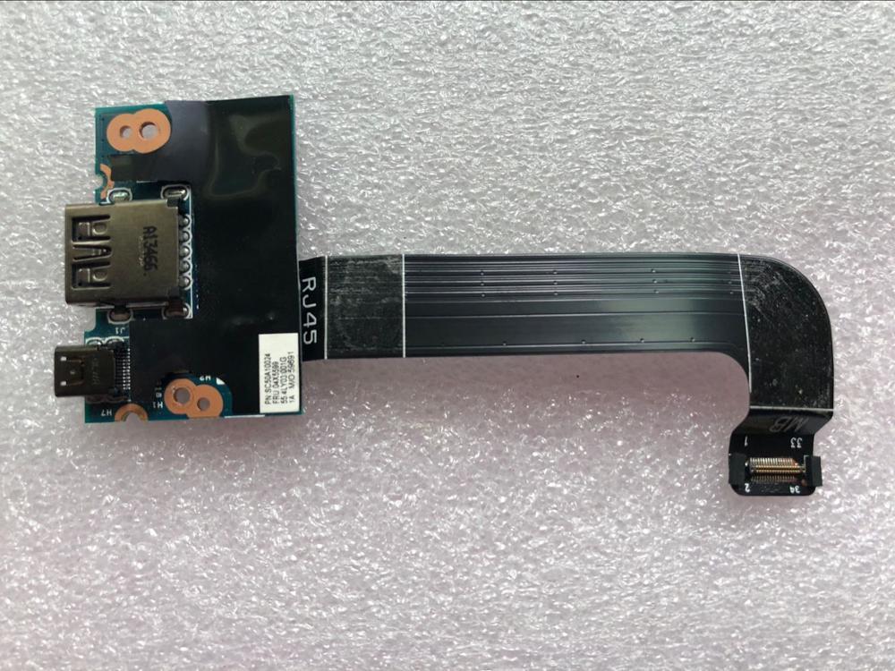 جديد كابل بطاقة فرعية للوحة USB RJ45 لأجهزة Lenovo Thinkpad X1 كربون 2nd Gen 20A7 20A8 لوحة إيثرنت FRU 04X5599 55.4ly08.001g
